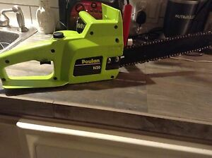 Poulan electric chain saw  $25.00