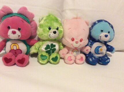 Care Bears plush toys ( lot 8 )