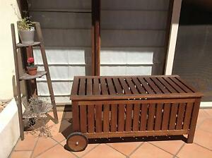 Outdoor storage seat and pot plant display Carlton Melbourne City Preview