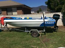 MUST SELL - 14ft Fibreglass Boat with Trailer - Make an offer Glenorchy Area Preview