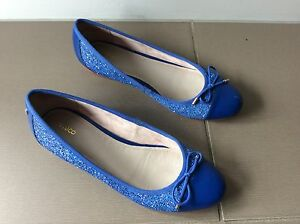 Mimco sparkly blue flats size 39 Carina Brisbane South East Preview