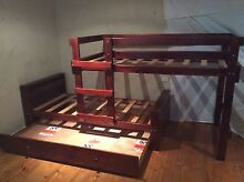 Single wooden trio bunk bed loft trundle DELIVERY!!! Windsor Hawkesbury Area Preview