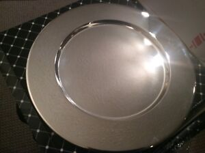 Silver plated charger plates