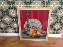Mid century modern retro embroidery glassed genie bottle art Tapping Wanneroo Area Preview