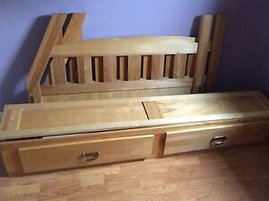 SOLD  Double bed with dresser