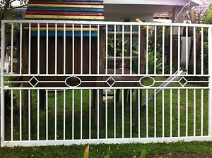Heavy Slide Gate with lock and tracks. Enfield Burwood Area Preview