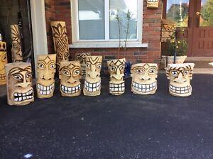 Tiki Chainsaw carvings