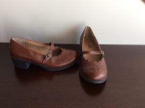 Little Girl's Brown Shoes - Size13 1/2