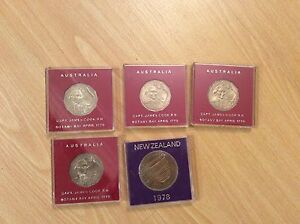 1970 Australian fifty cent coins - uncirculatedX 4 Hornsby Hornsby Area Preview