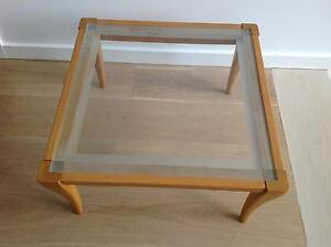 Glass coffee table with timber edges and feet Canada Bay Canada Bay Area Preview