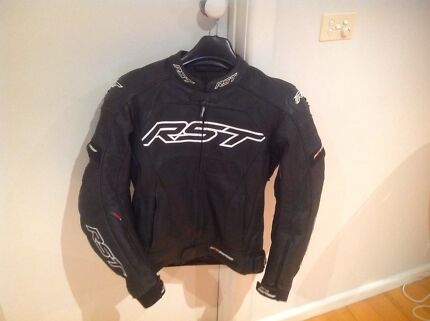 RST PRO SERIES LEATHER BLACK/WHITE JACKET LIKE NEW Cheltenham Kingston Area Preview