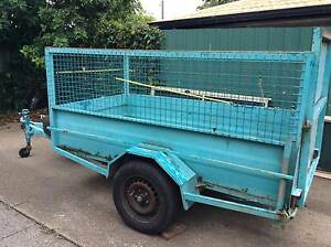 8 X 4 BOX TRAILER.WITH RAMP AND CAGE Shailer Park Logan Area Preview