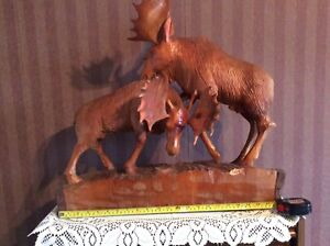 Moose Wood Carving by the Valley Carver