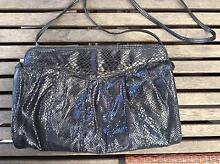 Black soft evening clutch purse/bag with shoulder strap Hendra Brisbane North East Preview