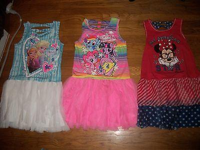 Frozen Dress For Little Girls (DISNEY FROZEN ANNA ELSA MY LITTLE PONY MINNIE MOUSE TUTU  DRESS GIRLS SZ L 10)