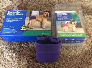 Dog Washable cover ups and diaper liners NIB