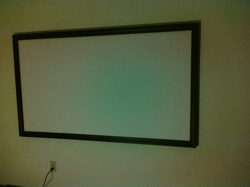 """113"""" 2.35:1 PRO GRADE PROJECTOR SCREEN (BARE) PROJECTION MATERIAL MADE IN USA!!"""