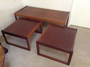 Quality Retro .....Teak Nest of 3 Coffee Tables Moss Vale Bowral Area Preview