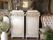 """SOLD P P/U... """"Beware Of Casanovas!!""""  Pair French Cabinets Butler Wanneroo Area Preview"""