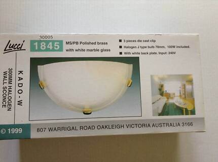 LUCCI 300MM HALOGEN WALL SCONCE Ferntree Gully Knox Area Preview