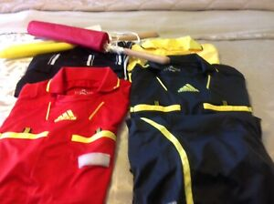 Soccer referee jerseys and flags, $50