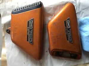 1972 Yamaha TX750 Left Right Oil Tank Side Covers