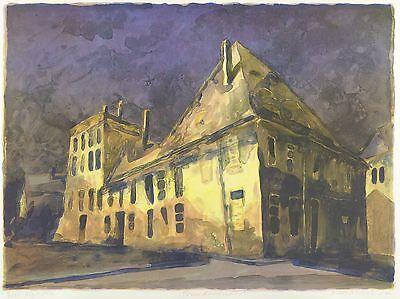 KLAUS DRECHSLER - Pirnaer Altstadthäuser - Farbalgrafie 2004