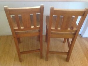 2 solid pine bar stools. Corrimal Wollongong Area Preview