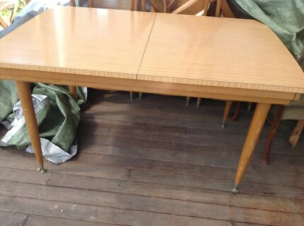 Dining suite - table & 7 chairs - vintage funky retro extendable