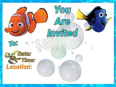 Finding Nemo Invitations with matching envelopes, birthday 12pack](Finding Nemo Invitations)
