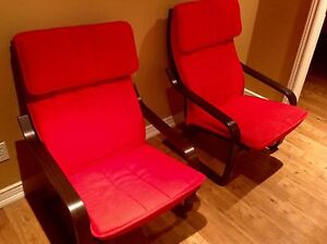 2 Red IKEA Chairs