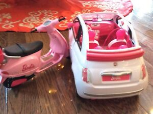 Barbie Fiat and scooter