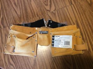 Leather Carpenters Tool Belt and hammer holder