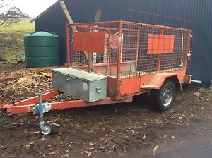 Box Trailer With Cage and Ramp Hobart CBD Hobart City Preview