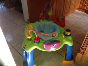 Excellent /gorgeous musical  excersaucer $25 only.