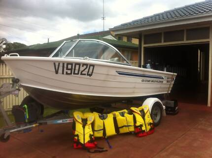 2012 Quintrex 420 Estuary Angler Boat as new condition