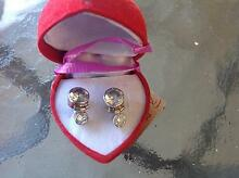 FACITED QUARTS SET IN STERLING SILVER STUD EARRINGS NEW INCREDIBL Largs Bay Port Adelaide Area Preview