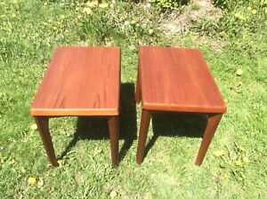 PAIR OF MID CENTURY MODERN TABLES
