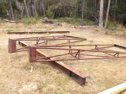 Gantry frame steel  grain storage on wheels diesel tank stand