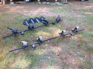Kayak - Yakima rack with mako saddles and holly rollers