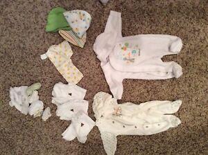 Newborn Lot (Including Sleepers, Mittens, Etc.)