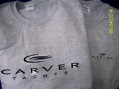 - Two Carver Yachts Screen Printed Heavy 6oz.100% pre-shrunk T-Shirts Boat