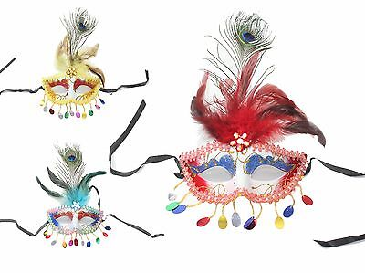 Peacock Feather Mask Lace Eye Masquerade Ball Party Halloween Costume Women's](Peacock Halloween Costume Mask)