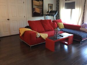 Huge Red Sectional Sofa for sale -moving -retail $4000