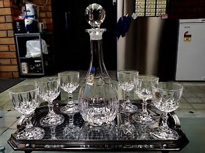 RCR - Crystal decanter set made in Italy Ottoway Port Adelaide Area Preview