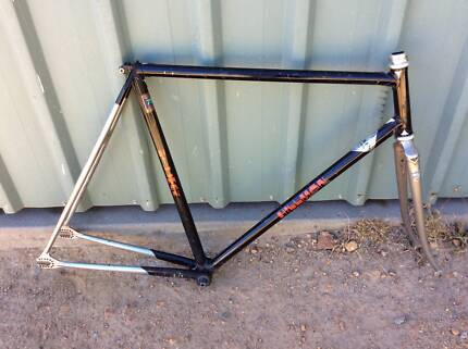 Hillman steel track frame. 54cm top tube and 55cm seat tube
