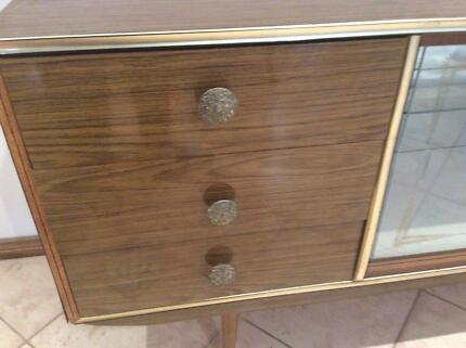 Vintage retro Buffett sideboard display cabinet Bella Vista The Hills District Preview