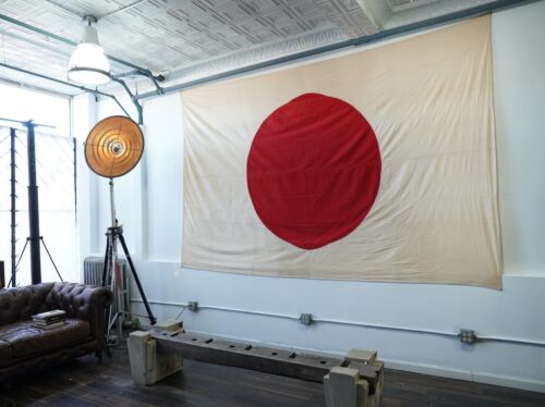 "Original Large Japanese  WWII Flag 92"" x 128"""