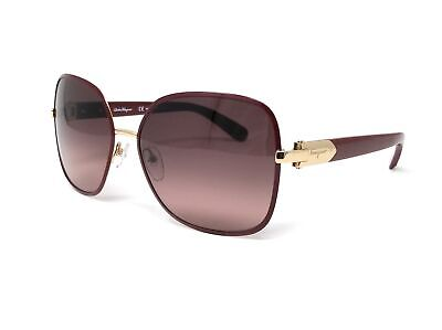Salvatore Ferragamo Sunglasses SF150S 728 Light Gold-Bordeaux Rectangular