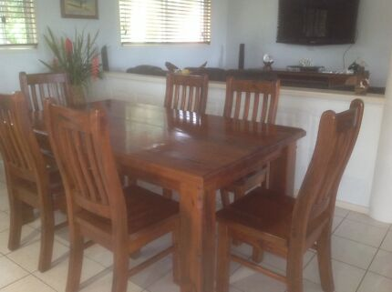 Timber Rustic Look Dining Room Furniture